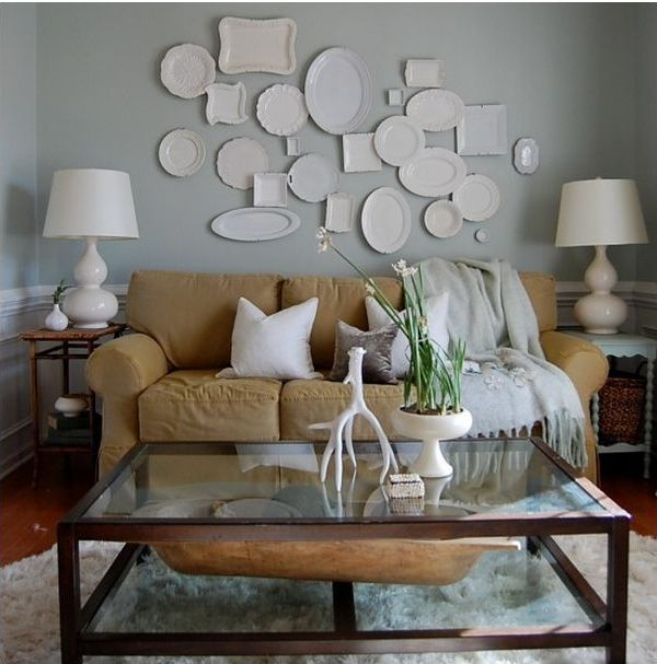 Design-tricks-using-what-you-have-plates-on-walls-The-Nester