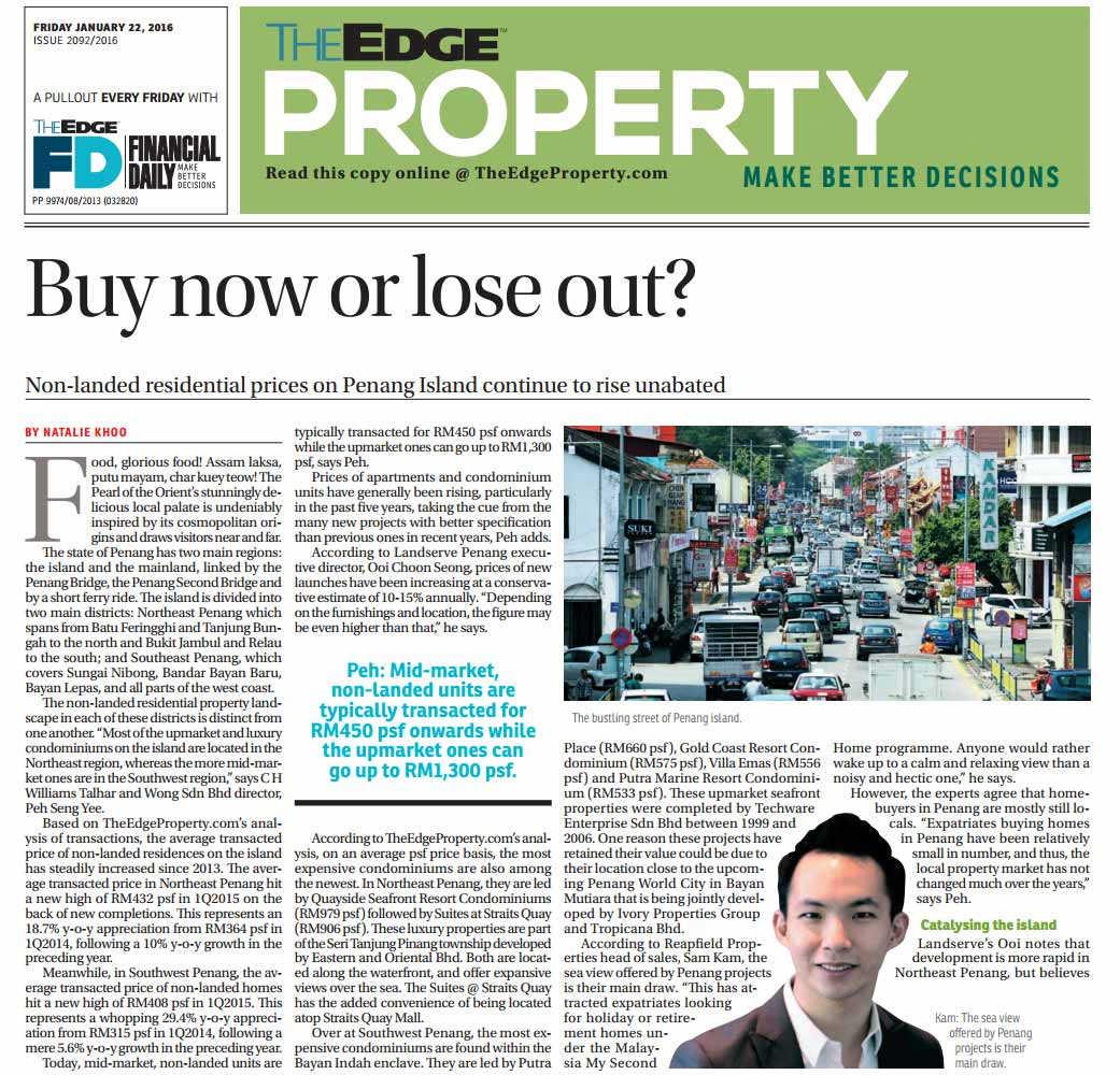 The Edge Property article featuring Sam Kam